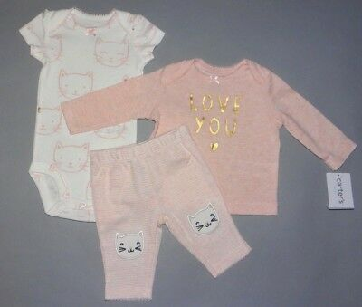Baby girl clothes, 6 months, Carter's Little Baby Basics3 piece set