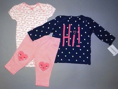 Baby girl clothes, 3 months, Carter's Little Baby Basics 3 piece set