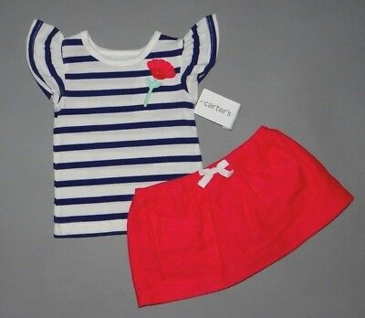 Baby girl clothes, 12 months, Carter's red skirt over shorts/top/ 1/2 OFF!