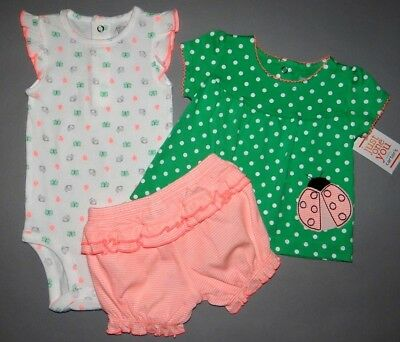 Baby girl clothes, 6 months, Just One You by Carter's 3 piece diaper cover set