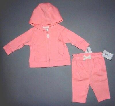 Baby girl clothes, Newborn, Carter's pink hoodie, matching pants/CLEARANCE SALE