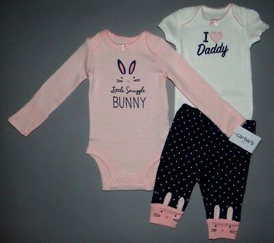 Baby girl clothes, 6 months, Carter's Little Baby Basics 3 piece set/NEW OUT!