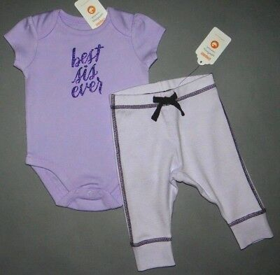 Baby girl clothes, 0-3 months, Gymboree purple glitter bodysuit, pants/CLEARANCE