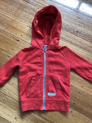 Boys Country Road Hoodie Size 2. Country Road Boys Size 2 Red Zip Up Jumper