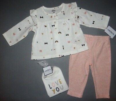 Baby girl clothes, Newborn, Carter's Little Baby Basics 3 piece set