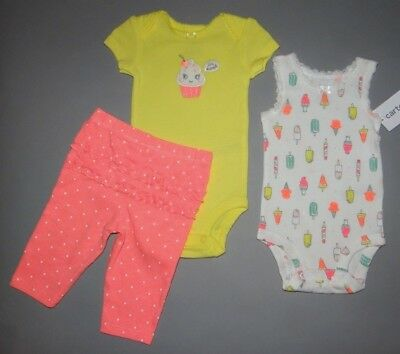 Baby girl clothes, 18 months, Carter's Little Baby Basics 3 piece set/SEE DETAIL