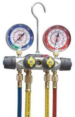 Mechanical Manifold Gauge Set,4-Valve YELLOW JACKET 49987