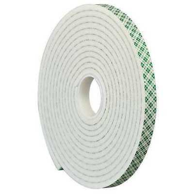 """3M 4004 Double Coated Foam Tape 0.5"""" x 5yd White, 1/4"""" thick 3M 4004"""
