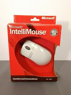Microsoft IntelliMouse 3.0 Wired PS/2 Mouse 2-Button Scroll Wheel 673-00425 NEW