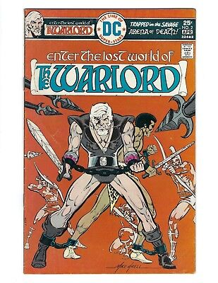 The Warlord #2 (DC 1976) Mike Grell art intro Machiste FN