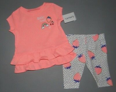 Baby girl clothes, 24 months, Carter's 2 piece play set