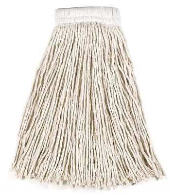 Value Pro 100% Post Industrial Cotton Wet Mop, White RUBBERMAID FGV15900WH00