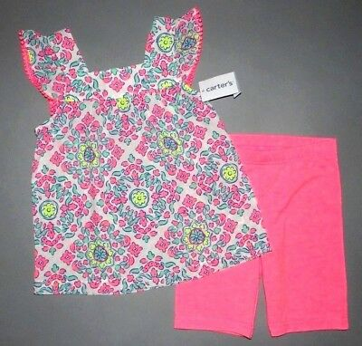 Baby girl clothes, 18 months, Carter's bright 2 piece play set