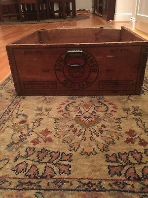 Antique Arm & Hammer Wooden Crate