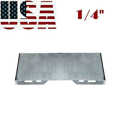 """1/4"""" Thick Steel Quick Tach Attachment Mount Plate for Skid Steer Kubota Bobcat"""