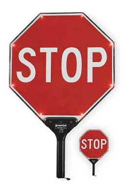 BlinkerPaddle® LED Sign,Stop/Stop,White/Red TAPCO 2180-00301