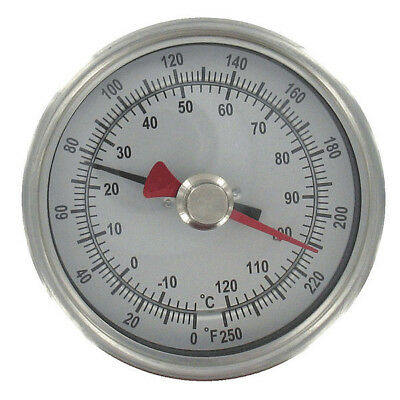 Bimetal Thermom,3 In Dial,-40 to 160F