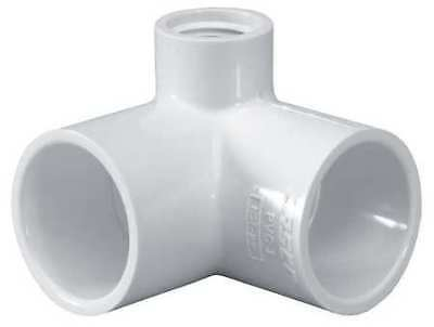 "1/2"" Socket x Socket PVC 90 Deg. Elbow FNPT Side Outlet LASCO 414005"