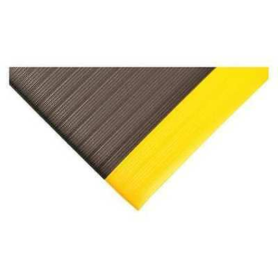 Antifatigue Mat,Black,YllwBrdr,3ftx60ft CONDOR 36VK98