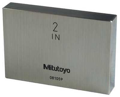 MITUTOYO 611202-531 Gage Block,Rect,Steel,2.00 In,ASME 0