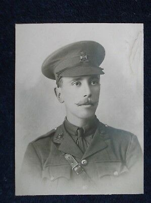 WW1 British Army Officer Real Photograph Captain Claud Harris Wiltshire Regiment