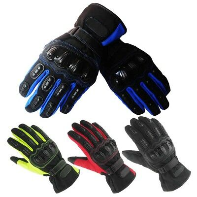 Hard Knuckle Motorcycle Gloves Touch Screen Winter Warm Outdoor Windproof Rider