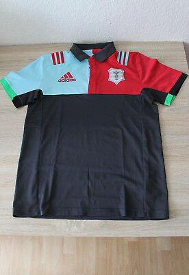 v ADIDAS HERREN CLIMALITE FUNKTIONS TRAININGS POLO T-SHIRT JERSEY GR. M