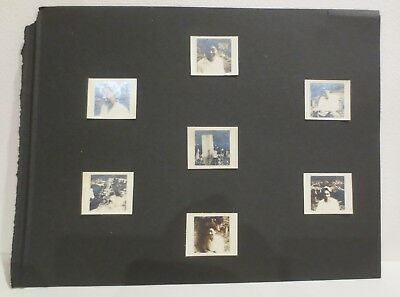 7 Vintage 80yr+ Japanese original photos Lot Black & White on album page antique