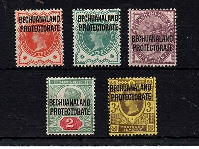 Bechuanaland GB Overprints 1897-02 (Victoria) to 3d Mounted Mint Lovely Colours