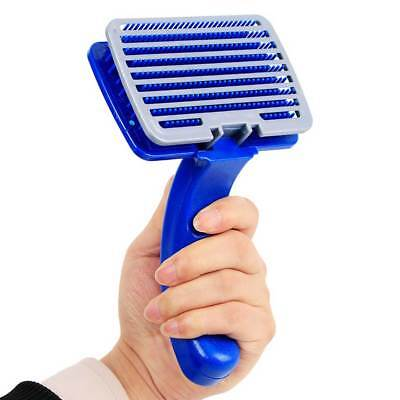 Handle Shedding Pet Dog Cat Hair Brush Pin Fur Grooming Rake Trimmer Comb Tool