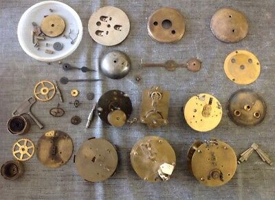 Antique Clock Movements And Parts Ex Clockmakers Spare Parts Collection