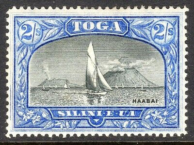 Tonga 1897 black/ultramarine 2/- sideways watermark mint perf 14 SG51a