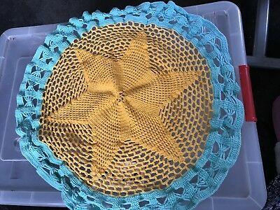 Large Hand Crochet Table Centrepiece