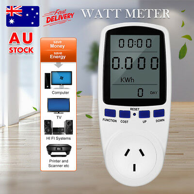 240V Power Meter Monitor Energy Consumption Watt Electricity Usage Tester AU