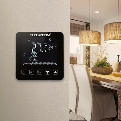 Floureon Touch Screen Electric Temperature Heating Thermostat 16A LCD Display