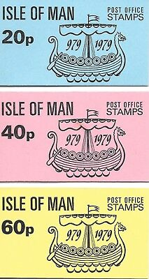 Isle of Man. Stamp Booklets x 3. Millennium of Tynwald. 1979.