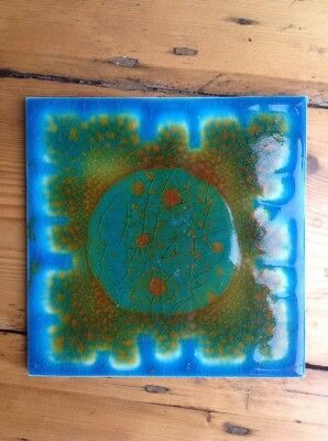 Ann Wynn Reeves/ Kenneth Clarke 1960's Hand Painted Tile