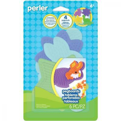 Perler 80-22672 Beads Small Shaped Pegboards, 4-Pack