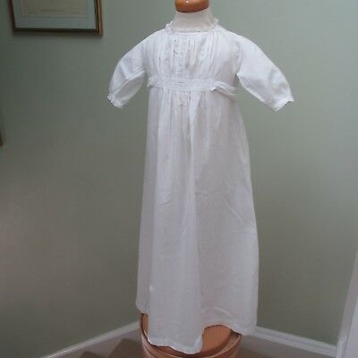 Antique/Edwardian Long  Baby Gown, Embroidered  Lace Inserts