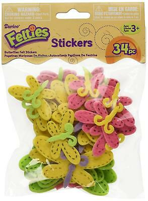 Darice Felties Stickers 34/Pkg-Butterfly With Stitches