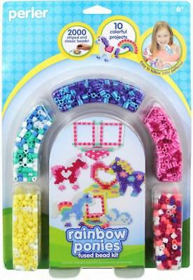 Perler 80-55995 Beads Fused Bead Kit, Rainbow Pony Frames