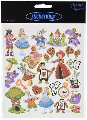 Tattoo King SK129MC-4908 Multicolored Sticker, The World of Alice