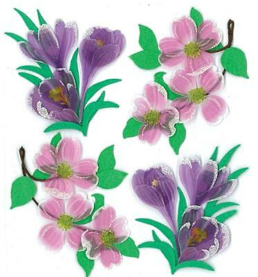 Jolees Boutique Dimensional Stickers, Dogwood and Crocus Flowers