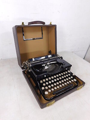 1927 Minty Royal Model P Black Typewriter w Case Perfect - Peter Weil Collection