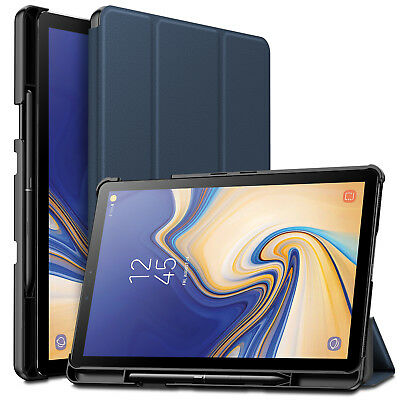 """Wake/Sleep Case Cover w/Built-in Pen Holder For Samsung Galaxy Tab S4 10.5"""" 2018"""