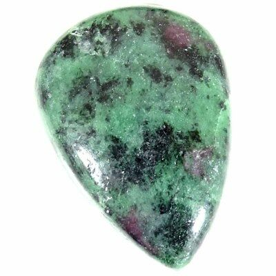 78.90Cts 100% Natural Designer Ruby In Zoisite Pear Cabochon Loose Gemstone