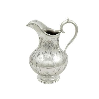 Antique Victorian Sterling Silver Jug - 1881