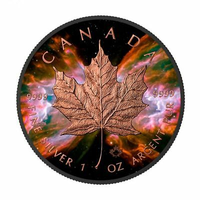 1 oz Silber Kanada *Butterfly Nebula Maple Leaf* 24k gilded - Black Ruthenium 5$