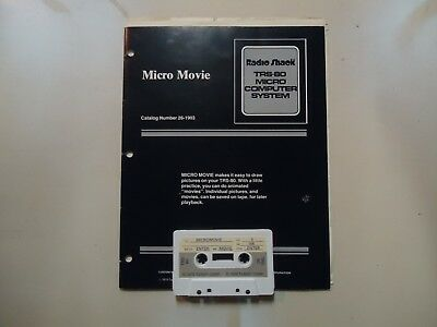 TRS80 Micro Movie cassette & manual, 26-1903, offers welcome