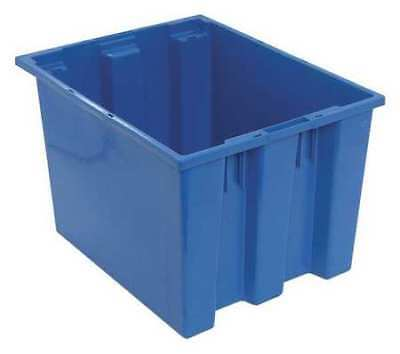 Nest and Stack Container, 19-1/2 in, Blue QUANTUM STORAGE SYSTEMS SNT195BL